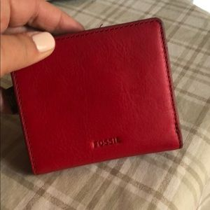 Fossil leather card case